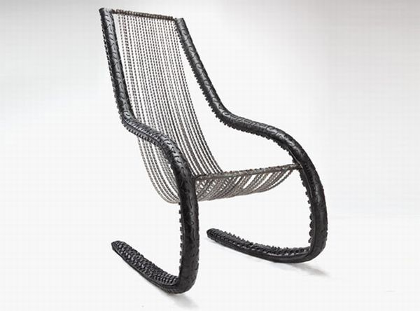 Recycled Bike Chain Chair