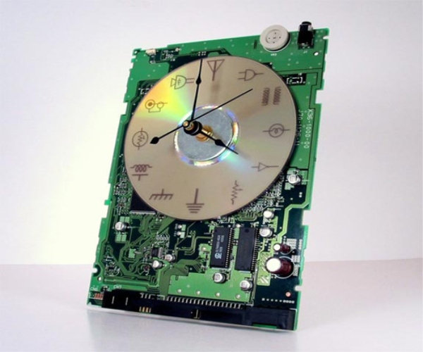 Recycled Circuit Board Clock