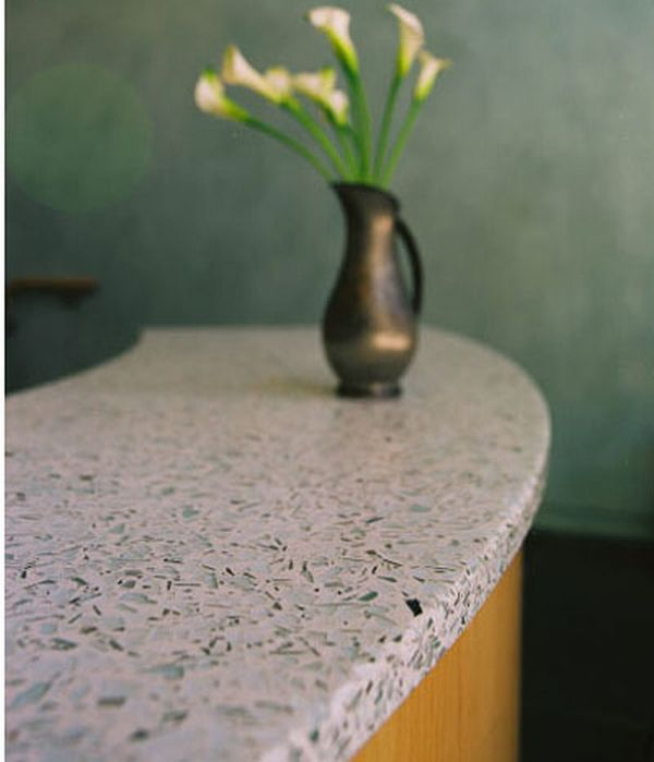 Recycled kitchen counter tops