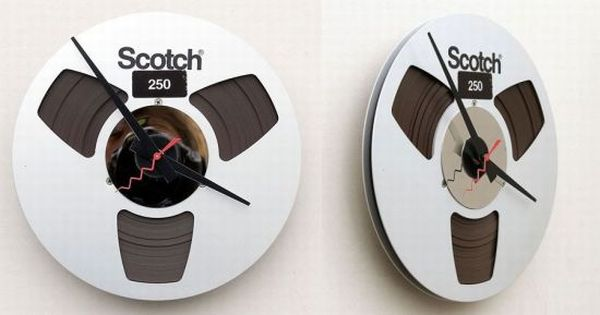 Recycled Magnetic Tape Reel Clock