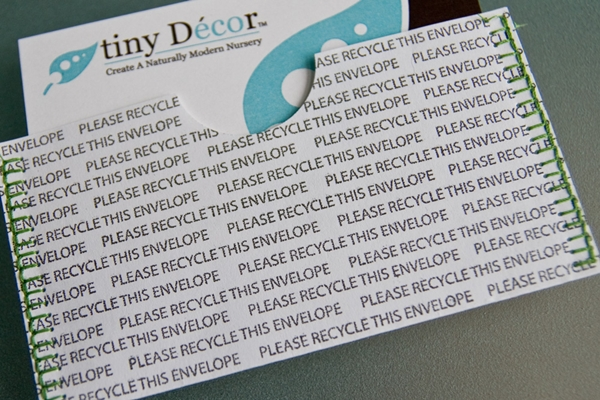 Recycled material business card