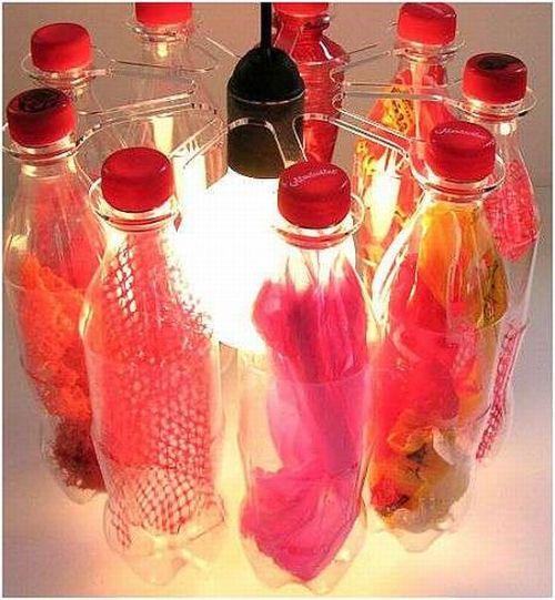 Recycled PET Bottle Chandelier
