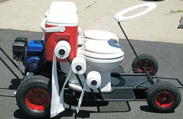 Toilet Go-Cart