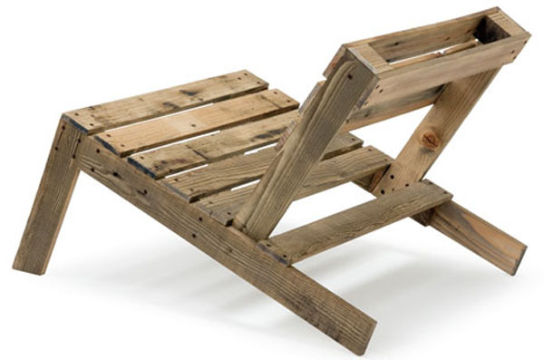 Recycled wood pallet chair