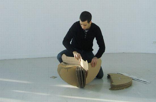rocking cardboard chair6