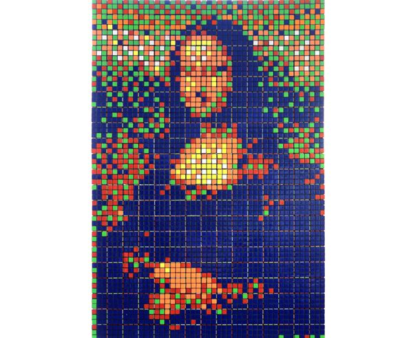 Rubik's cube Mona Lisa