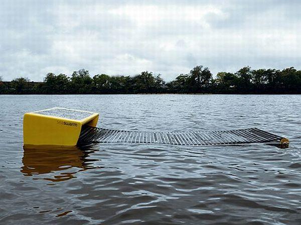 seaswarm robots to clean spilled