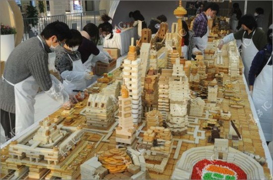 shanghai city made from sweets 1