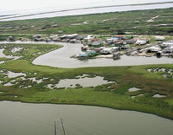 sinking roads on the louisiana coast