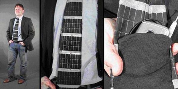 Solar-powered necktie