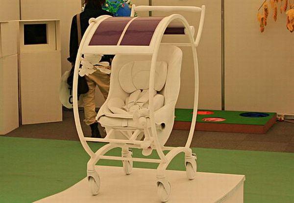 Solar powered stroller.