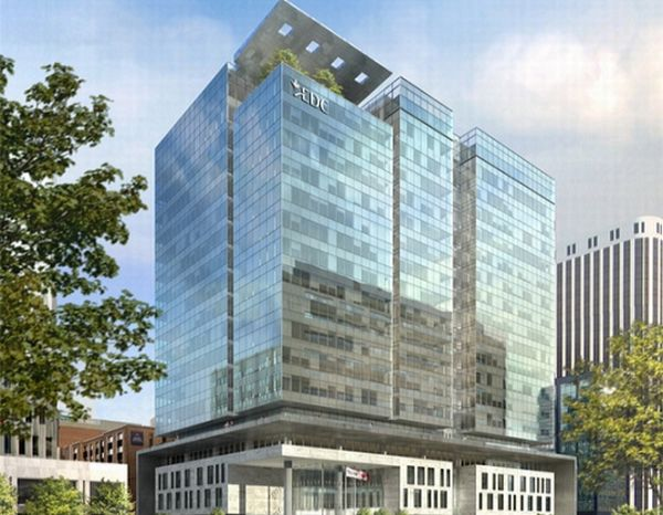 sustainable office building. sustainable office complex building