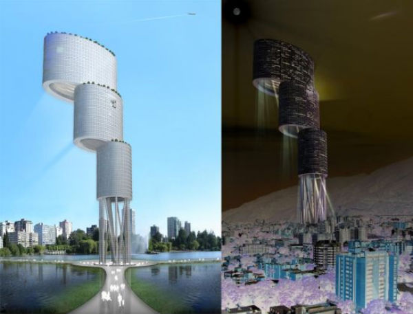 Sustainable vertuical city