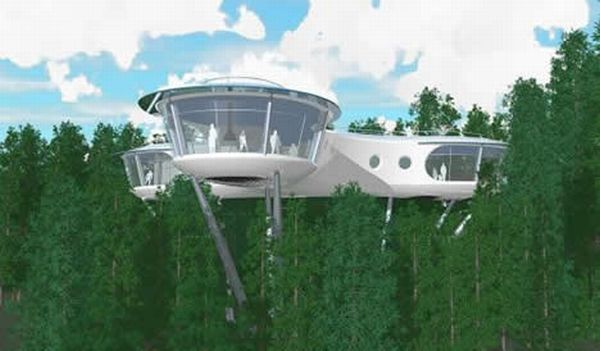biggest treehouses in the world sybarites modular tree dwelling - Biggest Treehouse In The World