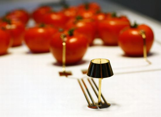 tomato powered lamp