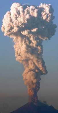 up an ash column