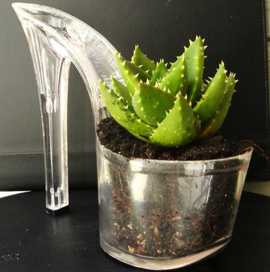 upcycled stiletto planters 1