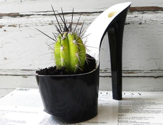 upcycled stiletto planters 3