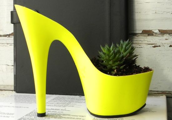 upcycled stiletto planters 4