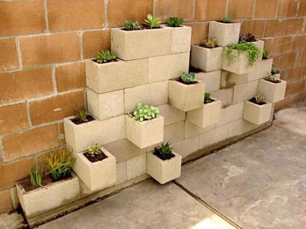 Used bricks or concrete blocks