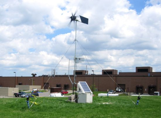 wind turbine powers wifi repeater