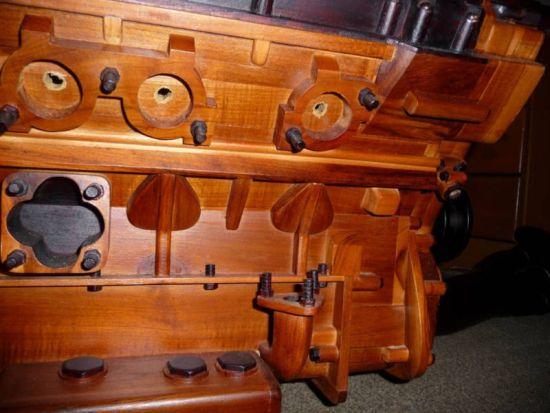 wooden ferrari v12 engine replica 4