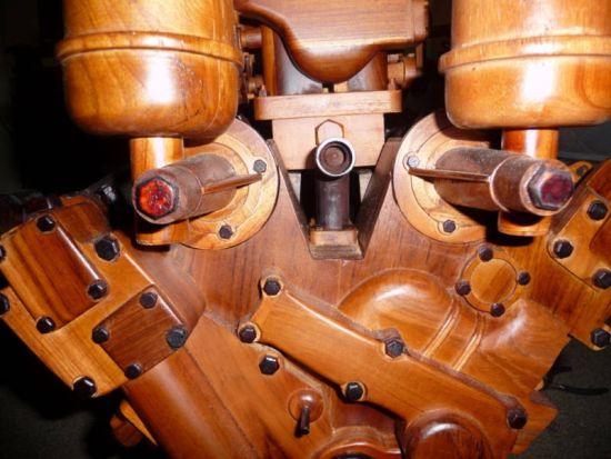 wooden ferrari v12 engine replica 5