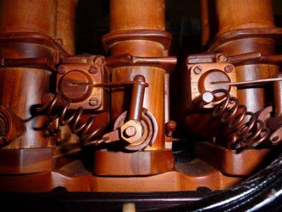 wooden ferrari v12 engine replica 6