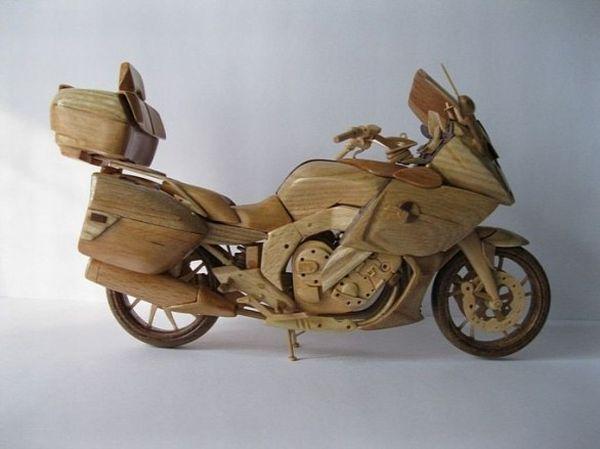 Wooden Miniature motorcycle