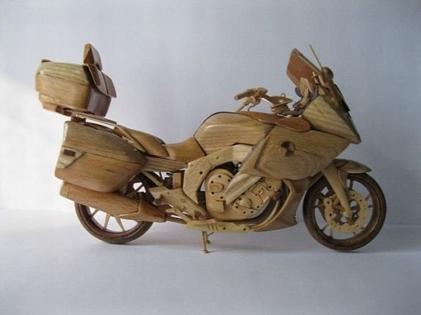 Wooden Miniature motorcycle
