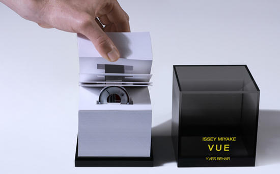 yves behars vue watch comes cosseted in a sustaina