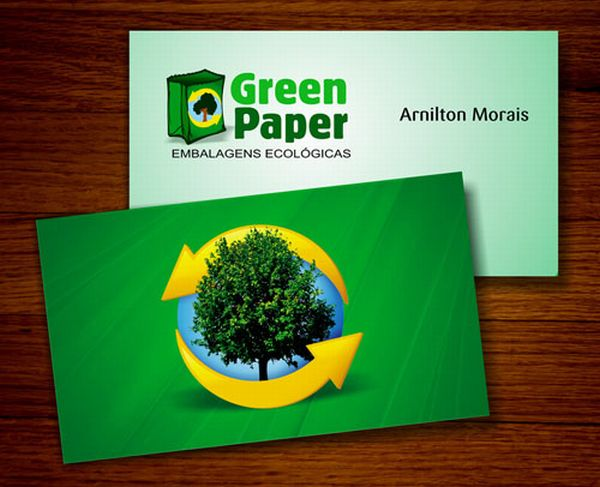 10 green business cards made using recycled paper green diary they are of great help in preserving the nature as they are made from recycled paper unlike the regular ones that a green business cards reheart Images