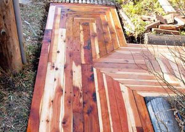 How to build walkway with reccled lumber - Green Diary - Green Revolution Guide by Dr Prem