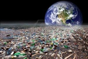 4310095-image-showing-earth-sinking-in-heavy-water-pollution-with-tons-of-plastic-containers