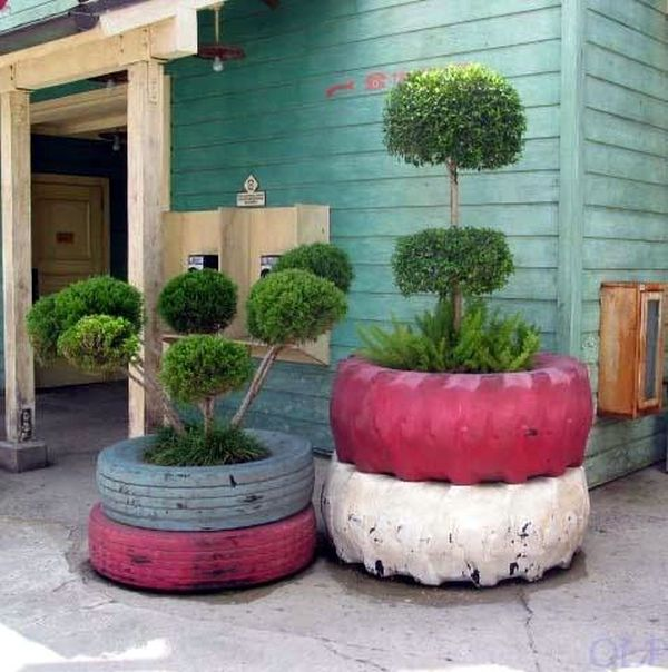 ... Make Rubber Tire Planters For Your Garden. 2