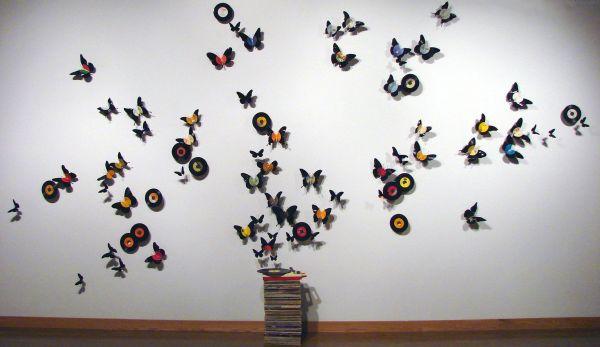 Butterfly beer art and vinyl wall art by Paul Villinski