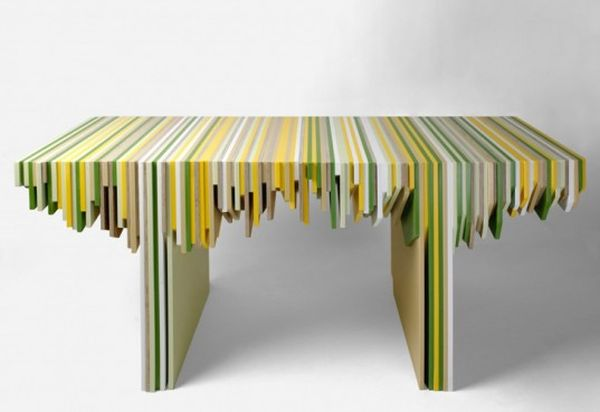 Corian Waste Rabih Hage furniture