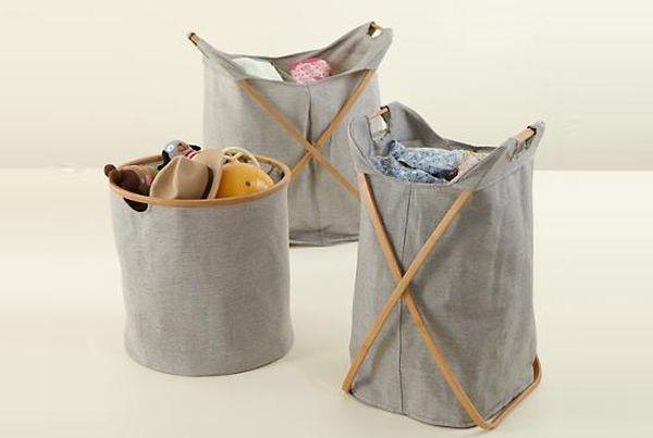 Darcron Canvas Laundry Basket