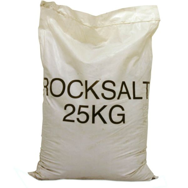Apply rock salt