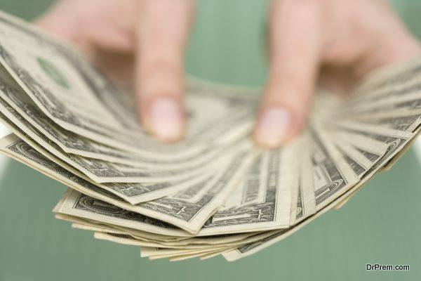 Fan of One Dollar Bills