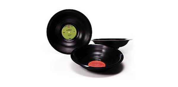 Recycled record bowls
