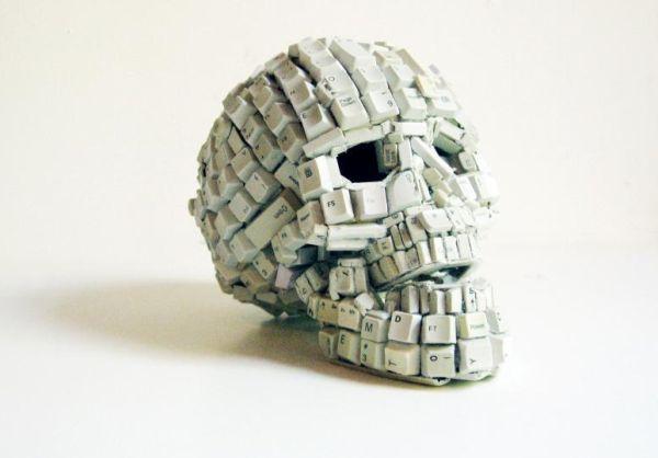 Anti-Social Skull Sculpture