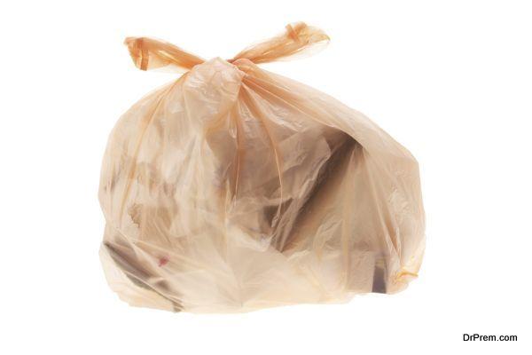 Bag of Garbage on White Background