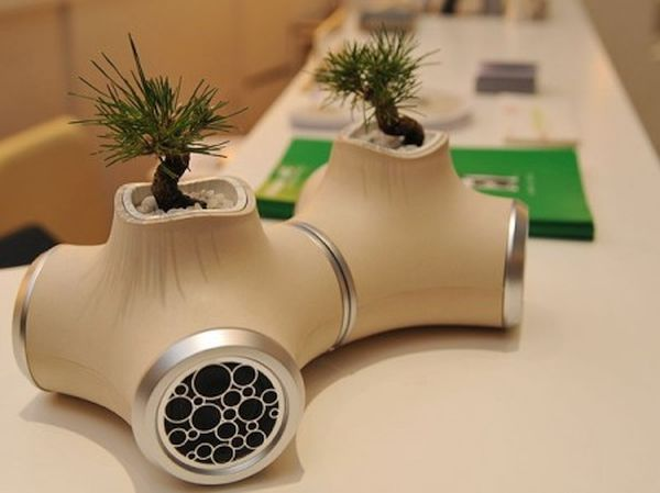 Speakers with Built-in Planters