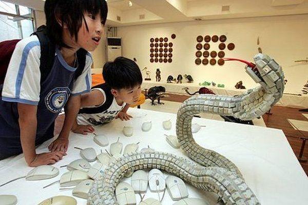 Viper Snake Sculpture