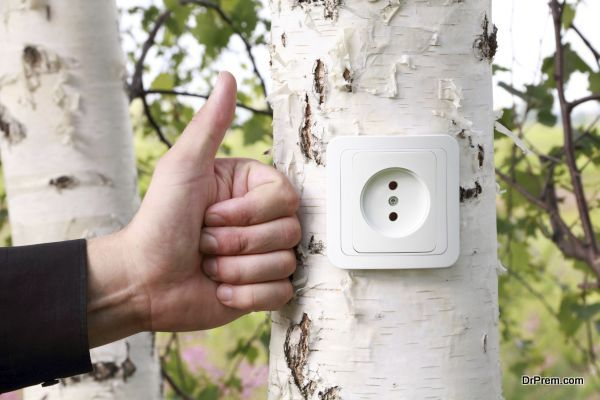 Ecological concept, symbolizing renewable energy, bio energy