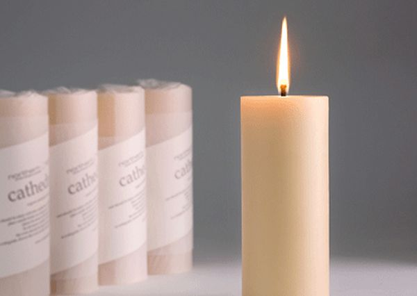 Light beeswax candles