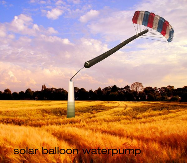 Solar balloon Waterpump WIP