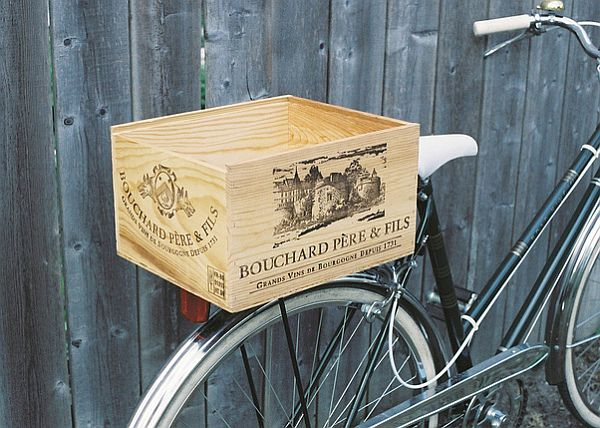 Wine crate basket