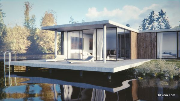 Haus am See - 3D render - Lakeside residence